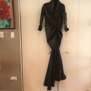 Tadashi Shoji Silhouette  Metallic Dress